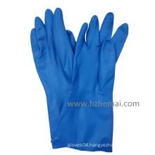 Long Chemical Blue Nitrile Fully Dipped Working Glove