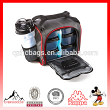 Seis envases a prueba de fugas Fitness Cooler Meal Prep Bag Aislado Enfriador Bolsa