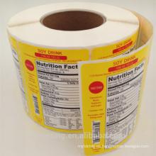 etiqueta engomada autoadhesiva de la impresión del color en color con la laminación, hoja de estampado en caliente