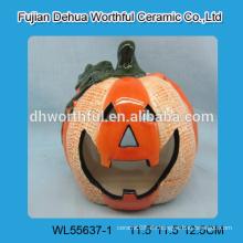 Nette Keramik Sparschwein in Schneemann Form
