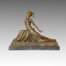 Dancer Bronze Sculpture Figure Clara Decor Statue en laiton TPE-176