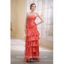 A-line Strapless Asymmetrical Lace / Tulle with Draping / Lace Prom Formal Evening Dress P7009
