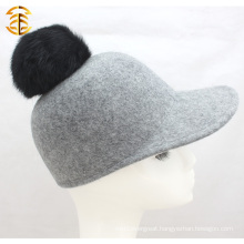 Korean Quadripartite Wool Retro Cool Wool Equestrian Fedora Hat