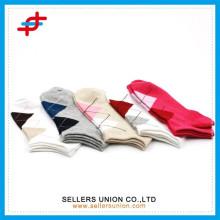 Mädchen mehrfarbige Mode argyle benutzerdefinierte Knöchel Sport Socken / Baumwolle Boots Socken