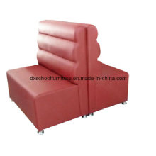 Leisure Red PU Leather Restaurant Sofa for Buffet, Bars