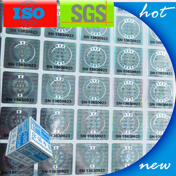 Label Hologram Keamanan Adhesive Security