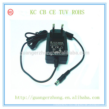 12V 1250mA KC ac to dc power adapter