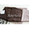 Worsted Cashmere Scarf with Herringbone Pattern