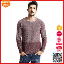 Las nuevas mangas largas de la manera ponen en mes el suéter del lambswool del telar jacquar de los saltadores