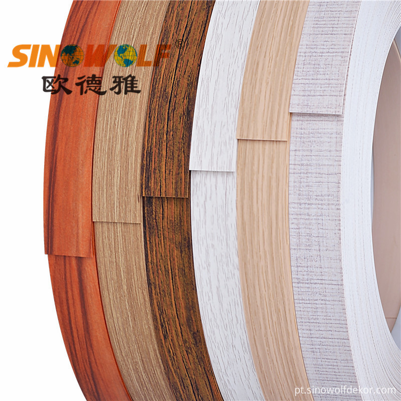 PVC Wood Grain Color Edge Banding Series