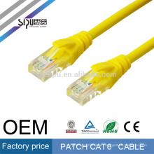SIPU high speed optional farbe 4 paar jumper lan utp cat6 patchkabel