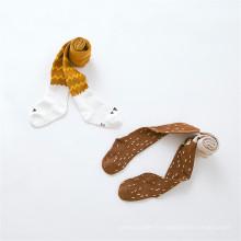 Très mignon Designs Kid Fox Pattern Little Girl Collants / collant en coton