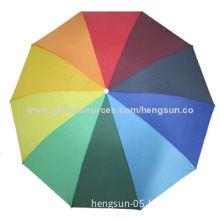 Folding Umbrellas, 3 folds, made of Rainbow PolyesterNew