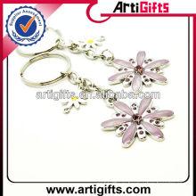 Красивый дизайн промо-цветок металлический брелок
