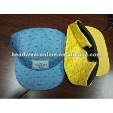 2013 мода напечатаны цветочные 5 панелей шляпы и цветочные ткани пустой 5 панели Snapback шапки