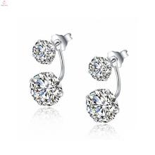 La más nueva simple 925 pendientes de plata joyería