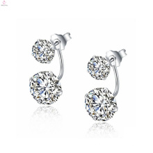 A jóia a mais nova simples dos brincos da prata 925 esterlina