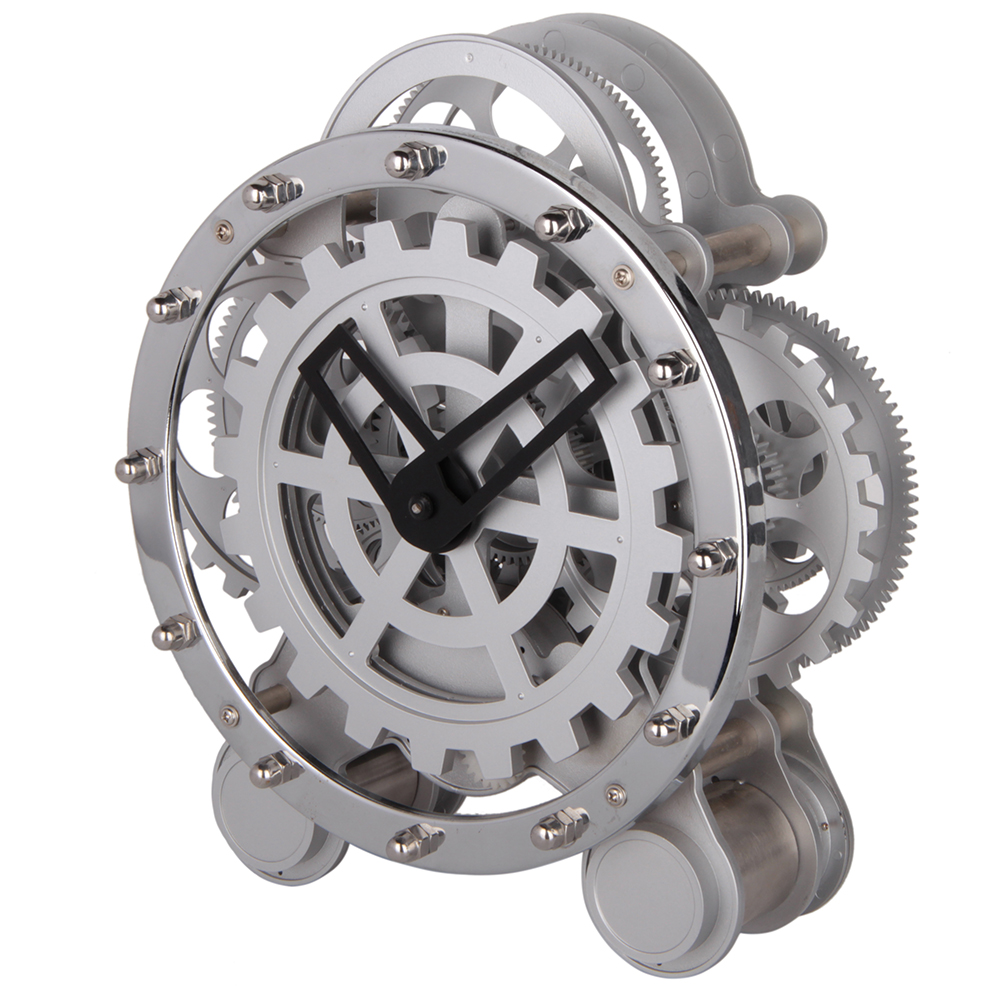 Gear Beside White Table Clocks