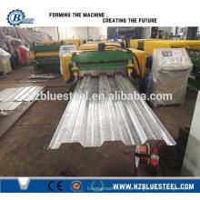 Estrutura de aço Metal Deck Roll formando máquina Decking de piso de aço Galvanized Floor Decking Roll formando máquina