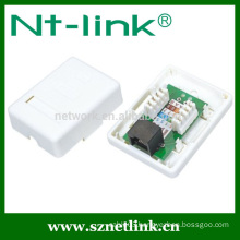 1 Port Cat5e UTP RJ45 Surface Box