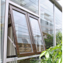 Double Panels Aluminum Awning Window Aluminum Top Hung Window