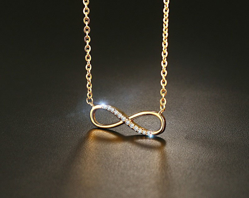 14k gold infinity necklace