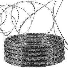 Galvanized/PVC/SS304 Single/Coin Type Razor Tape Barbed Wire (CBT60/65 blade)