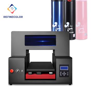 Venta directa de fábrica de Refinecolor Impresora de inyección de tinta LED ultravioleta automática de cama plana digital de alta resolución Tamaño a3 a2 Impresora Uv