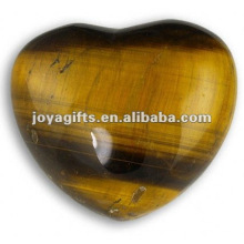 Coeurs en pierre de tigre-oeil de 40 mètres