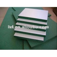 Зеленый цвет mdf доска с цветами бумаги меламин