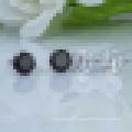 Boucles d'oreilles à griffes en argent sterling 925 avec incrustation de zircons