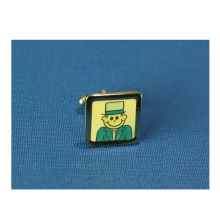 Cartoon Metal Cufflinks, Square Enamel Cufflinks (GZHY-XK-010)