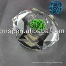 Candelero de cristal alto claro de la mejor calidad modificada para requisitos particulares calidad superior del precio