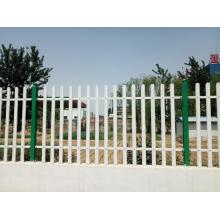 Pvc Painted galvanized steel palisade fencing panels