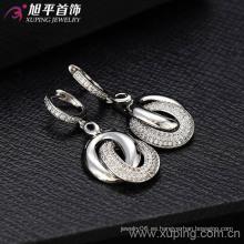 Pendiente de moda de lujo plateado del rodio de Xuping (28438)