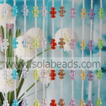 Decorating Idea 6MM&14MM&22MM Wired Plastic Beaded Garland Trimming