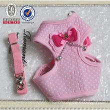 Lovely pink color decorative dog pet collars diy