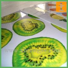 Impressão UV em folhas de acrílico branco