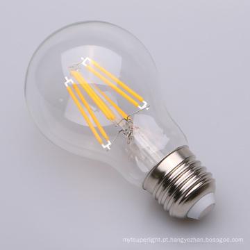 Diodo emissor de luz E27 Shatterproof GLS do filamento de 8 watts Dimmable