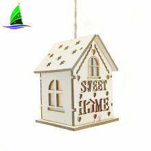 Small Wooden House with Led Lights for Decorate