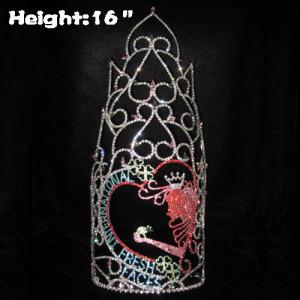 Coroas frescas do costume da cara fresca da representação histórica de cristal da altura 16in