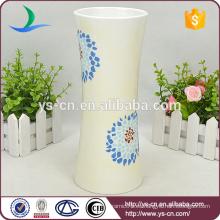 Nuevos diseños de cerámica de la pintura del florero de la flor del diseño