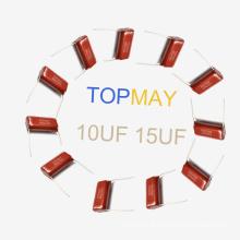 Topmay 2016 Popular Metalizado Capacitor de Filme de Poliéster Mkt-Cl21 6.8UF 5% 100 V