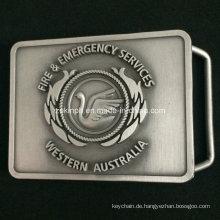 Benutzerdefinierte Zink Legierung Gürtel Buckel mit Antik Nickel-Finish für Business-Geschenk