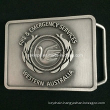 Custom Zinc Alloy Belt Buckel with Antique Nickel Finish for Business Gift