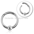 316L Surgical Steel Hinged Segment Ring