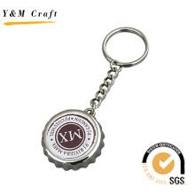 Llavero con tapa de botella de metal con logotipo personalizado (K03093)