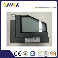 Fenêtre en aluminium de style America Style Casement avec volets intégrés