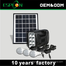 4Ah 6V home use complete solar power energy lighting system