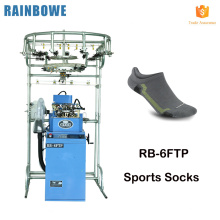 fabricante de profissional liso coreano plana toes algodão homens esporte meias que faz a máquina